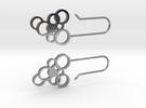 Silver Bubble Earrings in Premium Silver