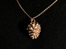 Pinecone in 14k Rose Gold Plated
