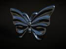 Monarch Butterfly in Premium Silver