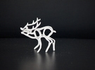 Deer in White Strong & Flexible