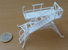 Aircraft crew boarding platform in White Strong & Flexible: 1:65