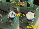 Assembly Of 24 Knobs for trimpotmeters in White Strong & Flexible