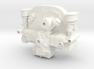 FF10001 Flat 4 Engine Part 1 of 2 in White Strong & Flexible Polished