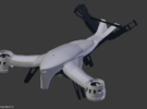 Aerial DRONE Kit for DiaLFonZo Copter vtail 400 in White Strong & Flexible