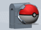 Pokeball 3DS Cart Holder- Assembled, BETA in White Strong & Flexible