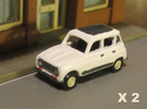 Renault 4 Hatchback 1:160 scale (Lot of 2 cars) in Frosted Ultra Detail