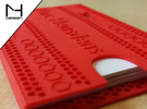 Business card case  in Red Strong & Flexible Polished