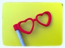Glasses Penciltopper: Love edition in Red Strong & Flexible Polished