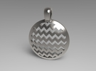 Chevron Pendant in White Strong & Flexible