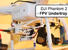 DJI Phantom 2 - Custom FPV Undertray in White Strong & Flexible