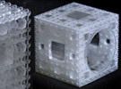 Inverted Menger Sponge Ring - EXTREMELY DETAILED! in Frosted Ultra Detail