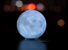 Moon lamp in White Strong & Flexible