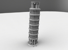 Leaning Tower Of Pisa in White Strong & Flexible