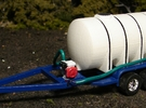 """1/64 """"S"""" Scale Trailer with Motor & Pump in Blue Strong & Flexible Polished"""
