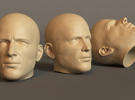Generic Male Head for 1/6 scale figure  in White Strong & Flexible