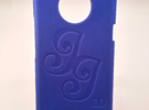Htc One X - DD - Case custom drawing in Blue Strong & Flexible Polished