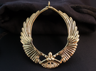 Falling Angel Pendant in Polished Brass