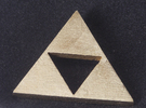 Zelda Triforce in Raw Brass