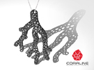 Red Coral Pendant in White Strong & Flexible Polished