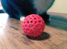 Voronoi Cat Toy in Red Strong & Flexible Polished