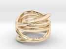 Strands Ring Size 8 in 14K Gold