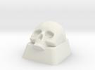 Skull Key cap Alps mount in White Strong & Flexible