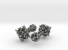 Gyroid Cufflinks in Polished Silver