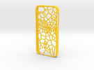 iPhone 5/5s Fracture Case in Yellow Strong & Flexible Polished