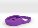LazyBone: Stem Cap Mount for Garmin Edge in Purple Strong & Flexible Polished