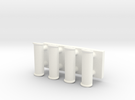 1:12 Handles in White Strong & Flexible Polished