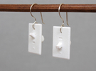 Light Switch Earrings in White Strong & Flexible Polished