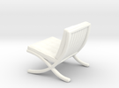 "Mies-Van-Barcelona-Chair - 1/2"" Model in White Strong & Flexible Polished"