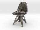 Wire Chair DKR-07-Big in Polished Nickel Steel