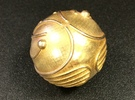 Golden Snitch (Solid Metal) in Raw Brass