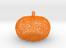 Voronoi Pumpkin #2 in Orange Strong & Flexible Polished