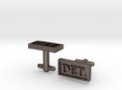Detective Cufflinks - Style 1 in Stainless Steel