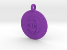 Customizable Pinball Pop Bumper Pendant in Purple Strong & Flexible Polished