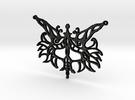 :Silent Beast III: Pendant in Matte Black Steel