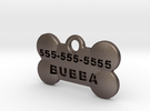BubbaTag, Dog Bone, Small in Stainless Steel