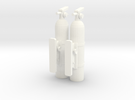 Fire-extinguisher-with-mount-x2 (repaired) in White Strong & Flexible Polished