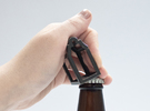 Open Huis Bottle Opener - Klokgevel in Polished Bronze Steel