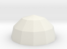 Polyhedral Bowl in White Strong & Flexible