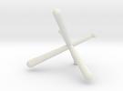 Tri-Bat Baseball Display in White Strong & Flexible