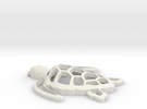 Sea turtle ornament Final in White Strong & Flexible