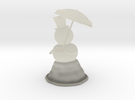 Snowman anti global warming in Transparent Acrylic