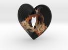 Fractal Heart Bauble 3 in Full Color Sandstone