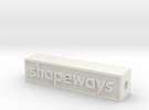 Glass Shapeways Logo in White Strong & Flexible