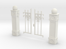 Iron Fence Gate in White Strong & Flexible