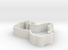 Sheltie Cookie Cutter in White Strong & Flexible