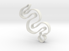 Snake Cookie Cutter in White Strong & Flexible